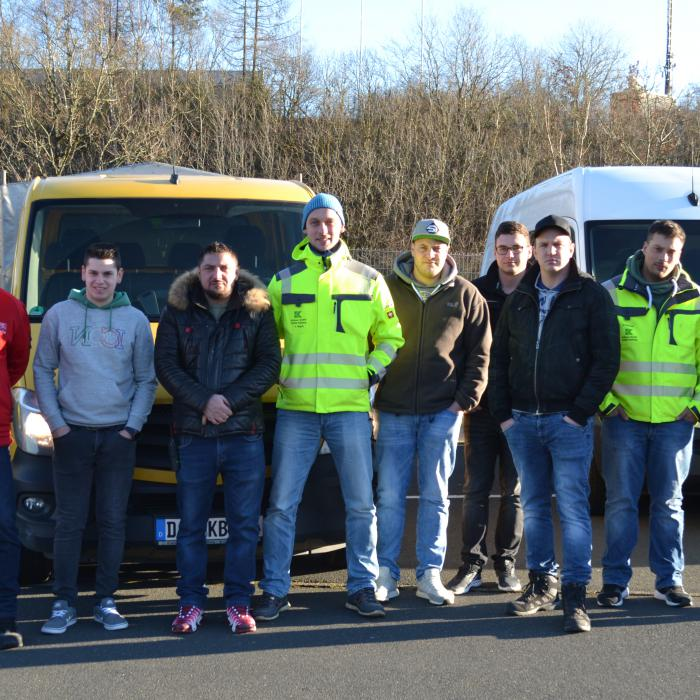 Krämer Bau GmbH, Transporter-Training 06.01.2020